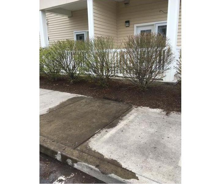 Cleaning of Exterior Sidewalk After
