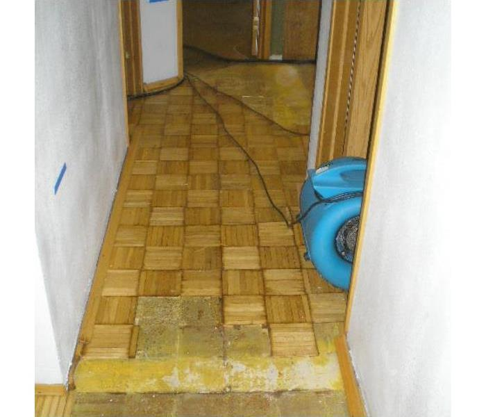 dryer on wooden floor